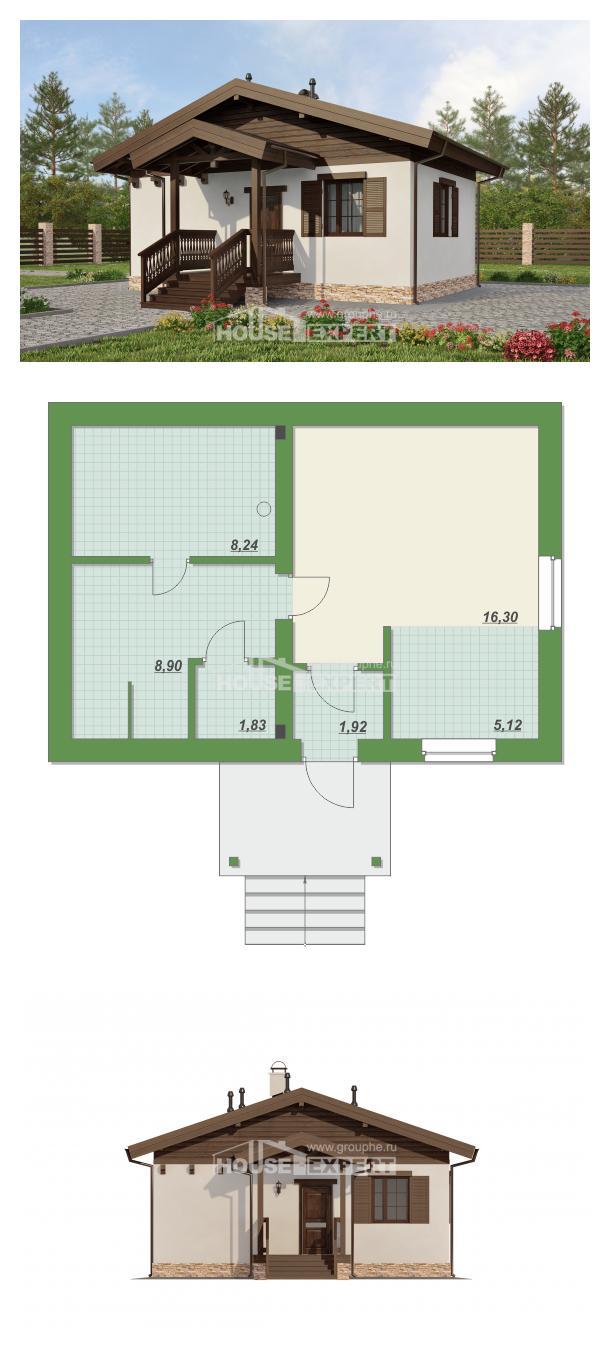 Проект дома 040-003-П   House Expert